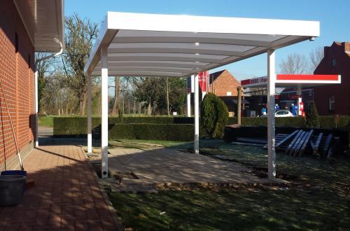 Carport met plat dak 4