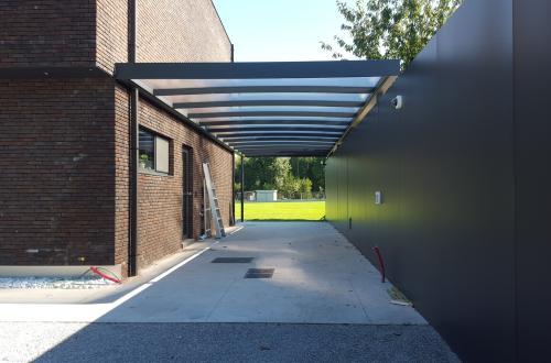 Carport avec toiture plate 3
