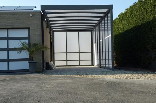 Carport avec toiture plate 2