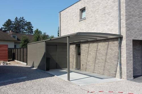 Carport avec toiture plate 6
