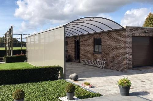 Carport met gebogen dak 4