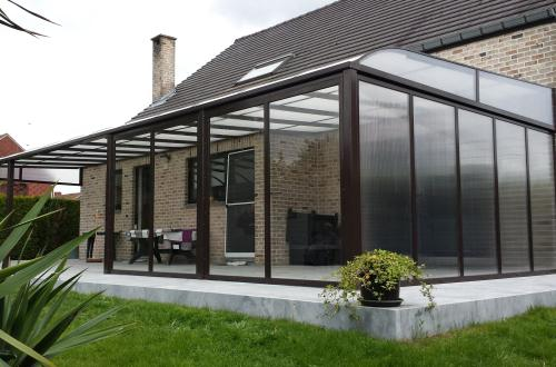 Terrasoverkapping met verandadak 2