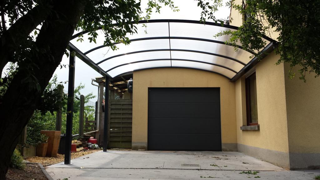carport avec toiture en anse de panier vermocarports. Black Bedroom Furniture Sets. Home Design Ideas